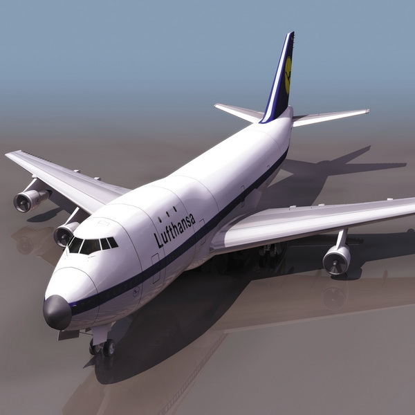 Boeing 747 Commercial Airliner 3d Model 3ds Files Free