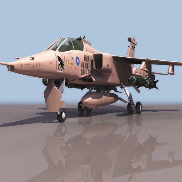 Sepecat Jaguar Strike Aircraft 3d Model 3ds Files Free