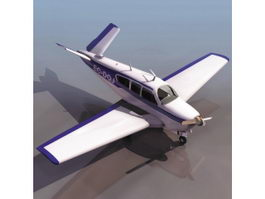 Beechcraft Musketeer trainer aircraft 3d model