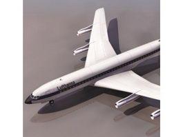 Boeing 707 airliner 3d model