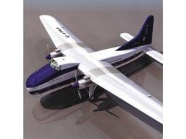Bristol Mk 32 passenger aircraft 3d model