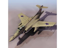 RAF Blackburn Buccaneer attack aircraft 3d model