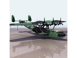 German Dornier Do 24 flying boat 3d model