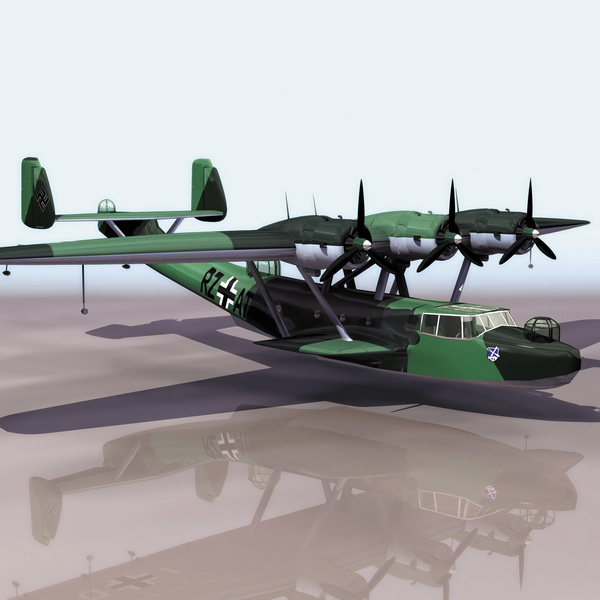 German Dornier Do 24 Flying Boat 3d Model 3ds Files Free