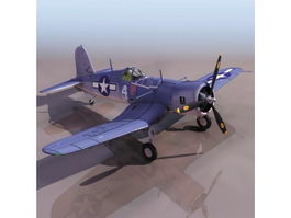 American F4U-1 Corsair fighter aircraft 3d model