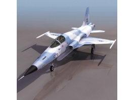 USAF F-5F Tiger II fighter aircraft 3d model