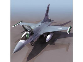 F-16 multirole fighter aircraft 3d model