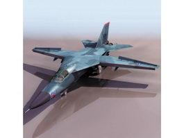 F-111 Aardvark fighter-bomber aircraft 3d model