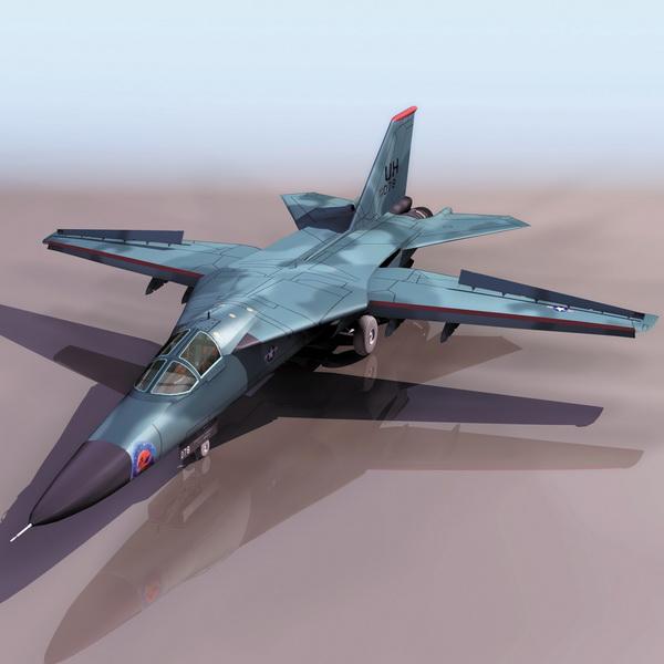 F-111 Aardvark fighter-bomber aircraft 3d model 3DS files ...