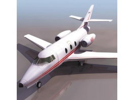 Falcon 10 transport aircraft 3d model