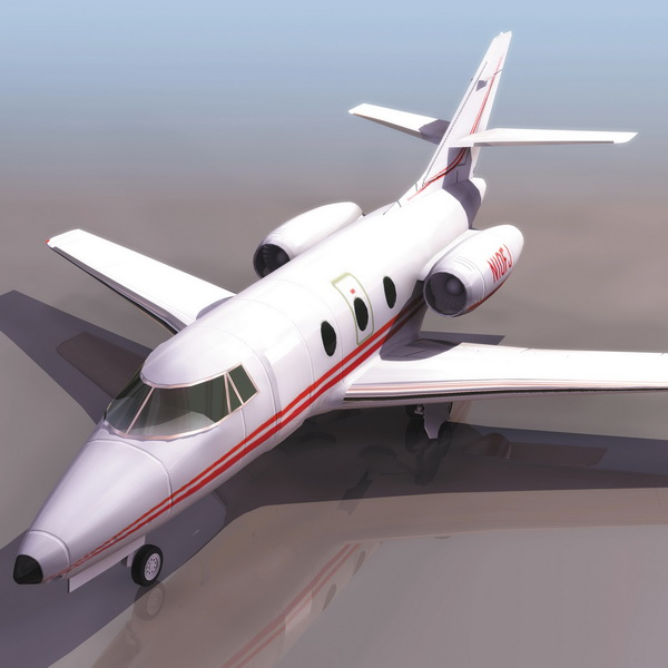 Falcon 10 Transport Aircraft 3d Model 3ds Files Free