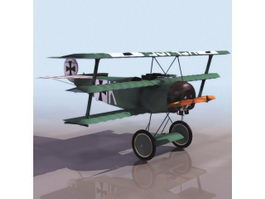 Fokker Dr.I fighter aircraft 3d model