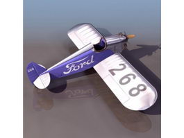 Ford Flivver single-seat aircraft 3d model