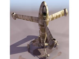 FW Triebfluegel German concept aircraft 3d model
