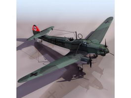 Fw 58 German aircraft 3d model