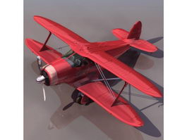 Beechcraft D17S Staggerwing biplane aircraft 3d model