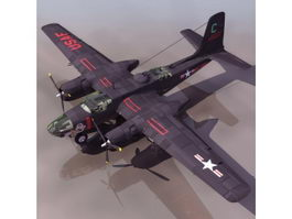 Douglas A-26 Invader bomber aircraft 3d model