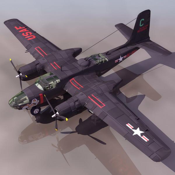 Douglas A 26 Invader Bomber Aircraft 3d Model 3ds Files