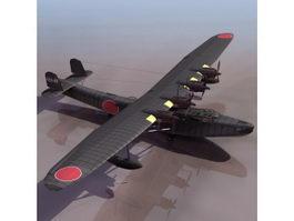 H6K Mavis Japanese Navy flying boat 3d model