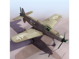 Dornier Pfeil fighter-bomber aircraft 3d model