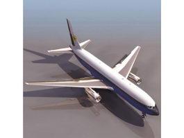 Boeing 767 jet airliner 3d model