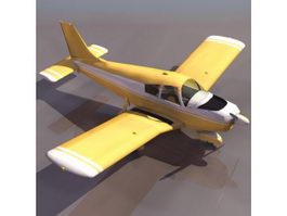 PA-28 Cherokee light aircraft 3d model