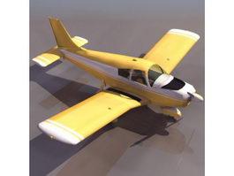 PA-28 Cherokee light aircraft 3d model