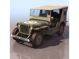 Willys MB U.S.army jeep 3d model