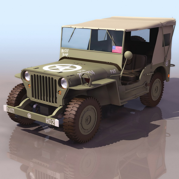 3dSkyHost: Willys MB U.S.army jeep 3D Model