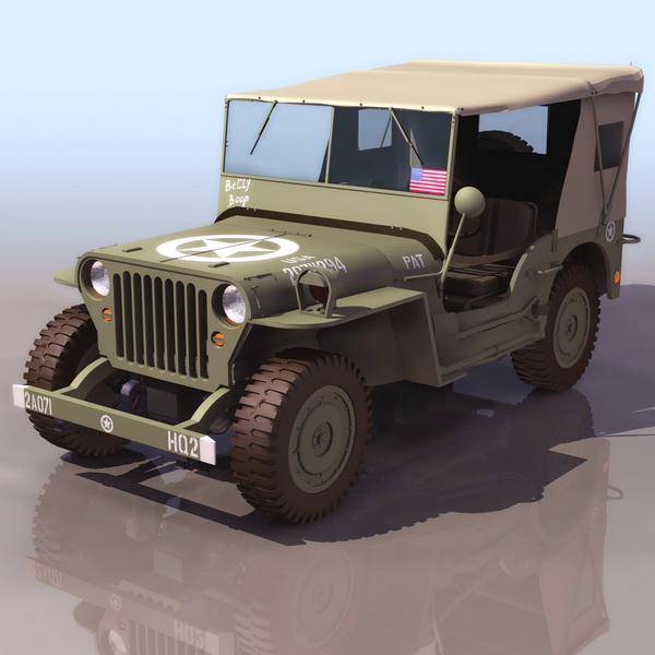 Willys MB U.S.army jeep 3D Model