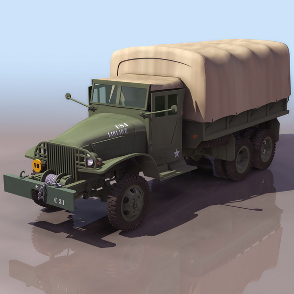 GMC military cargo truck 3D Model
