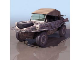 WWII German amphibious car 3d model