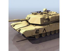 American M1 Abrams main battle tank 3d model