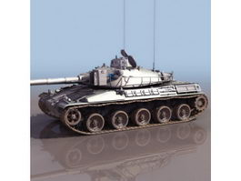 French AMX-30 main battle tank 3d model