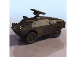 BRDM-3 wheeled anti-tank vehicle 3d model