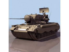 Flakpanzer Gepard German anti-aircraft gun 3d model