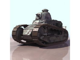French Renault FT light tank 3d model