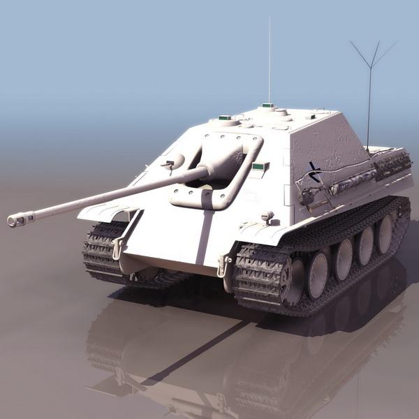 Wwii German Jagdpanther Tank Destroyer 3d Model 3ds Files