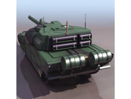 French AMX Leclerc main battle tank 3d model