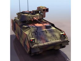 American M2A2 Bradley infantry fighting vehicle 3d model