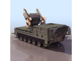 M730A2 self-propelled missile launcher 3d model