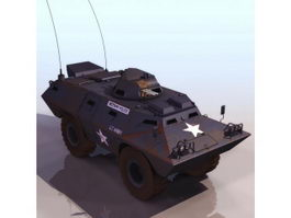 American V-100 light armored vehicle 3d model