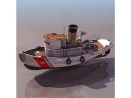 US coast guard tugboat 3d model