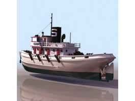 Diesel Tug boat 3d model