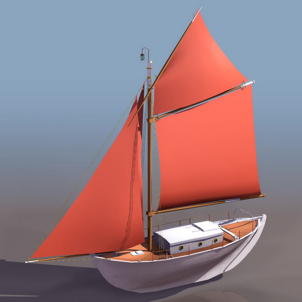 Sailing boat 3d model free download - cadnav com