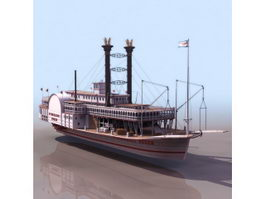 Mississippi Queen steamboat 3d model