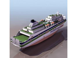 Juan J. Sister cruise ship 3d preview