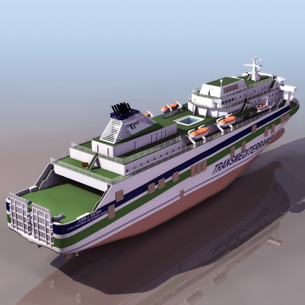 Juan J Sister Cruise Ship 3d Model 3ds Files Free