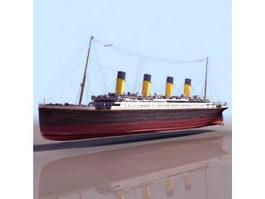 Titanic passenger liner 3d model