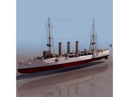 SMS Emden WWI German light cruiser 3d model